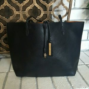 Street Level Faux Leather Tote Handbag